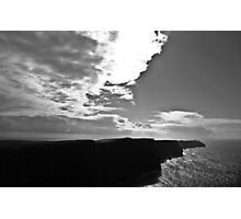Ireland in Mono: Beaten By The Storm Photographic Print