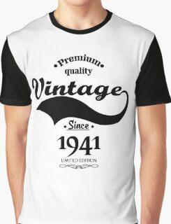 Premium Quality Vintage Since 1941 Limited Edition Graphic T-Shirt