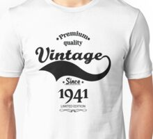 Premium Quality Vintage Since 1941 Limited Edition Unisex T-Shirt
