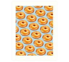 Glazed Donut Pattern Art Print