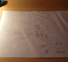 Sonic generations drawing or painting  by Bornthisway11