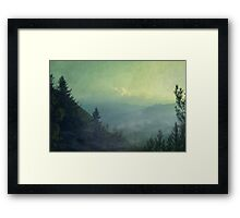 Mist over valley - Valmalenco / Italian Alps Framed Print