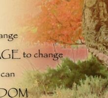 Serenity Prayer Autumn Harmony Sticker