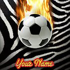 Soccer Ball Zebra (Customizable) - iPhone Case by Christopher Herrfurth