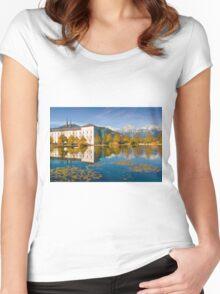 Stift Admont in autumn Women's Fitted Scoop T-Shirt