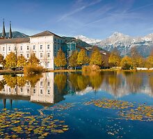 Stift Admont in autumn by Delfino
