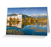 Stift Admont in autumn Greeting Card