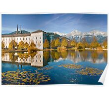 Stift Admont in autumn Poster