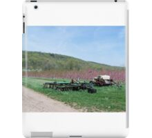 Farm Equipment with Flowering Fruit Trees iPad Case/Skin