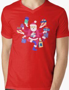 Dancing Pastel Shiva Claus Mens V-Neck T-Shirt