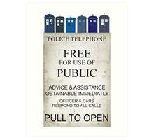 Doctor Who - Tardis evol Art Print