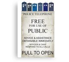 Doctor Who - Tardis evol Canvas Print