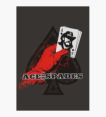 ACE OF SPADES Photographic Print