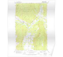 USGS Topo Map Washington State WA Deming 240832 1972 24000 Poster