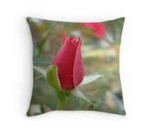 LITTLE RED ROSEBUD Throw Pillow