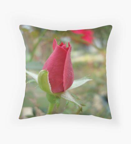 LITTLE RED ROSEBUD Throw Pillow