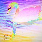 Bright pink left facing swan by ♥⊱ B. Randi Bailey