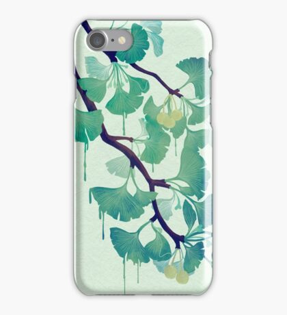 O Ginkgo (in Green) iPhone Case/Skin