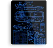 BTTF DELOREAN Metal Print