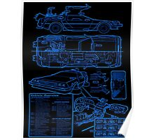 BTTF DELOREAN Poster