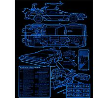 BTTF DELOREAN Photographic Print