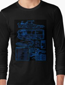 BTTF DELOREAN Long Sleeve T-Shirt