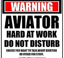 Warning Aviator Hard At Work Do Not Disturb by cmmei