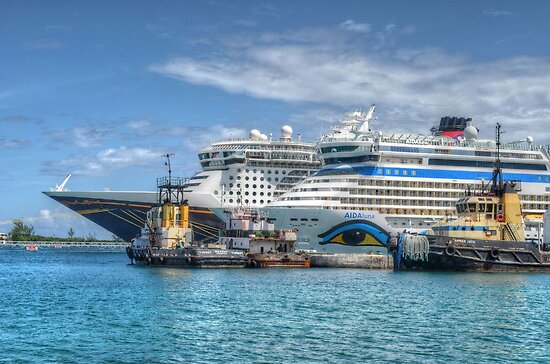 Cruise Ships at the Prince George Port in Nassau, The Bahamas by 242Digital