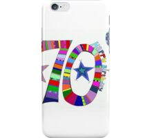 70th Birthday Colorful Balloons Happy 70th iPhone Case/Skin