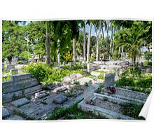 Eastern Cemetery (The Grassy Cemetery) in Nassau, The Bahamas Poster