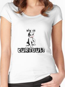 Y so curious? Women's Fitted Scoop T-Shirt