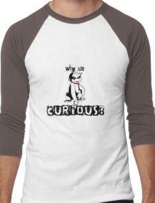 Y so curious? Men's Baseball ¾ T-Shirt