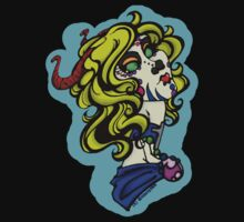Sugarskull Horned Zombiegirl by divinityINK