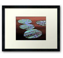 Watercolor Blue Framed Print