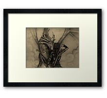 Athena's Battle with the Dragon Framed Print