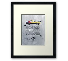 Mad Max V8 Interceptor Art Print Framed Print