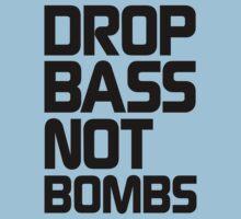 Drop Bass Not Bombs (Essential Black) One Piece - Short Sleeve