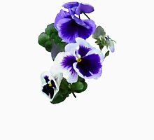 Three Purple Pansies in a Row Womens Fitted T-Shirt
