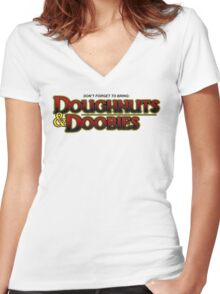 D&D Women's Fitted V-Neck T-Shirt