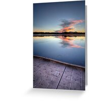Dock Shot Greeting Card