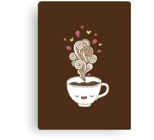 Saturday coffee Canvas Print