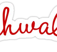 "Dishwalla: ""Handwritten"" Logo Sticker"