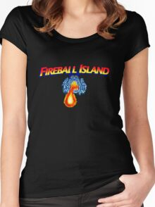 fireball island 80's board game Women's Fitted Scoop T-Shirt