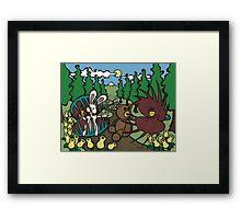 Teddy Bear And Bunny - The Venus Flytrap Framed Print