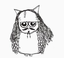 Captain Jack Sparrow Owl Baby Tee