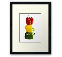 Tricolor Pepper Lineup Framed Print