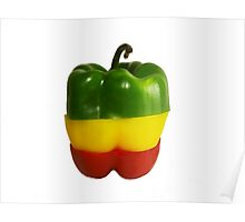 Tricolor Pepper Poster