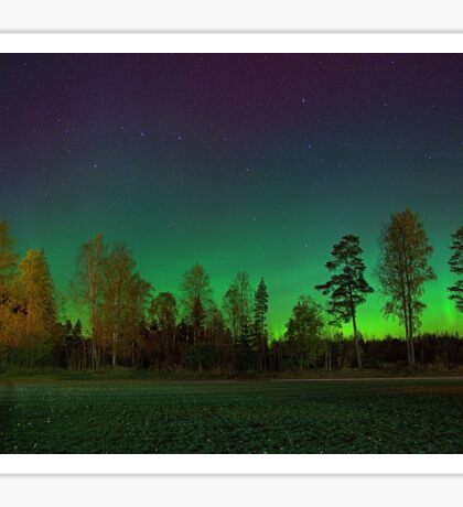 Northern Lights in Southern Finland Sticker