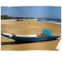 Boats and bikes on the beach..Sri Lanka. Poster