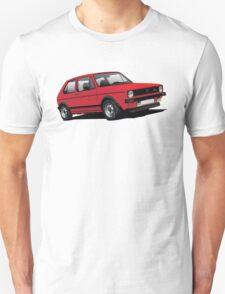 Volkswagen Golf GTI MK1 illustration red T-Shirt